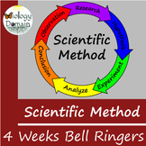 Four weeks of Scientific Method Bellringers Warm Ups with