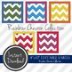 "4"" x 10"" EDITABLE PRINTABLE Labels - Rainbow Chevron Collection"