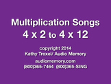 "4 x 2 to 4 x 12 mp4 Video from ""Multiplication Songs"" by Kathy Troxel"