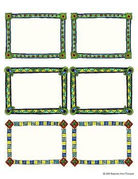 "4"" x 3"" Geometric Name Tags"
