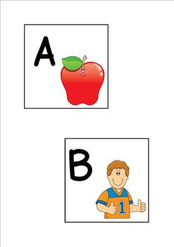 4 x 4 Alphabet Flashcards Freebie