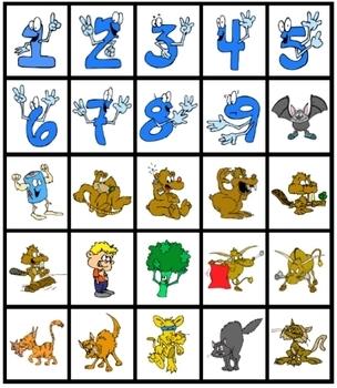 4 x 4 Lotto Matching Game