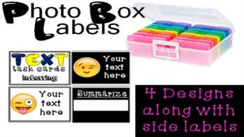 4 x 6 Photo Box Labels