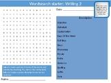 4 x English Writing #2 Literature & Language Starter Activities Wordsearch
