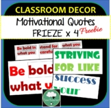 4 x Large Printable Quotes Classroom Border Frieze