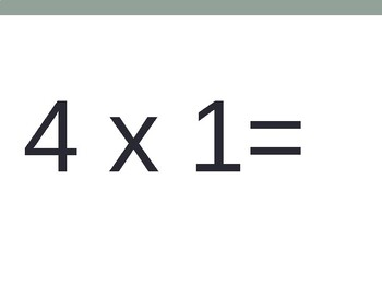 4 x Multiplication Flash Cards ppt