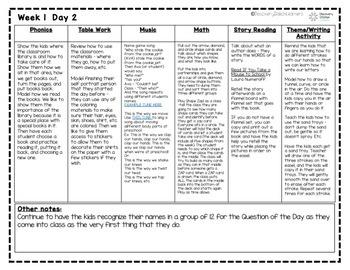 year old preschool lesson plans 4 year preschool september lesson plans weeks 1 4 tpt 2