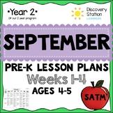 4 year old Preschool SEPTEMBER Lesson Plans (Weeks 1-4)