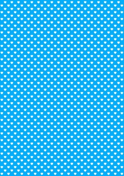 40 A4 Sized White Love Hearts Digital Papers Jumbo Pack