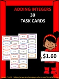 30 Adding Integer Task Cards with Answers