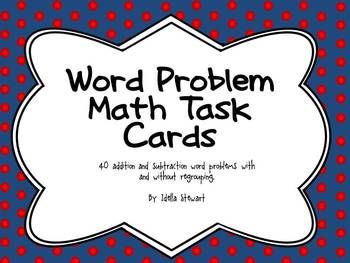 40 Addition and Subtraction Word Problem Cards