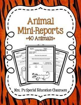 40 Animal Mini-Reports