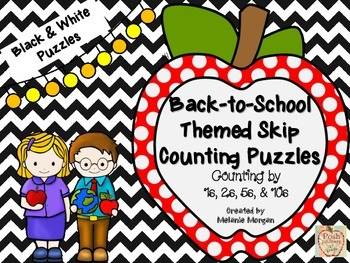 Ink Saver 40 Back-to-School Number Order & Skip Counting Puzzles