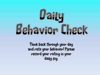 4.0 Behavior chart