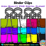 Binder Clips Clip Art for Personal and Commercial Use