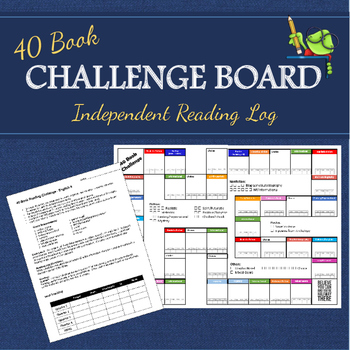 40 Book Challenge Board for Independent Reading