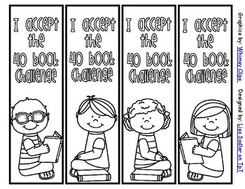 40 Book Challenge Bookmarks