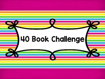 40 Book Challenge Bulletin Board