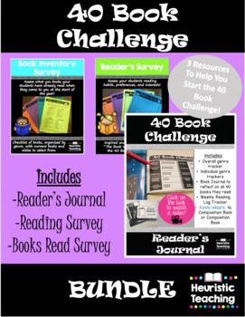 40 Book Challenge Bundle Resource **Back To School**