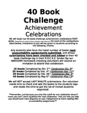 40 Book Challenge Celebration invitations