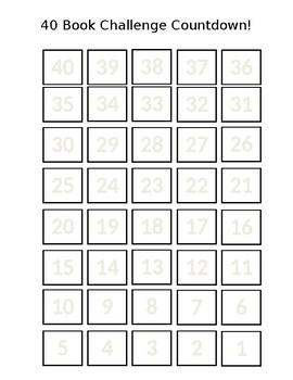 40 Book Challenge Countdown