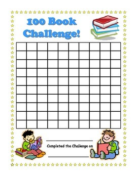 100 Book Challenge- Reading Chart For Kids