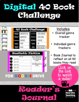 40 Book Challenge- Digital (Editable)