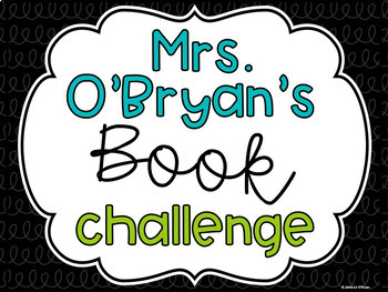 Book Challenge Editable Poster