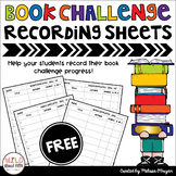 Book Challenge FREE Recording Sheets