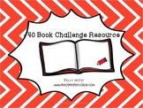 40 Book Challenge Freebie