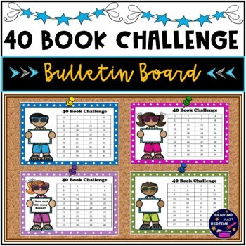 40 Book Challenge Inspired Bulletin Board