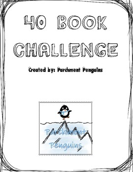 40 Book Challenge Log - Noneditable