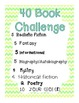 40 Book Challenge Poster - The Book Whisperer