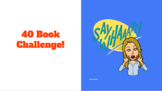 40 Book Challenge PowerPoint *Editable*