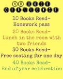 40 Book Challenge Reward Poster