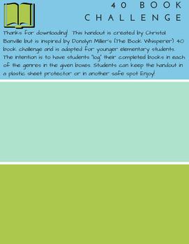 40 Book Challenge Student Handout