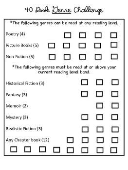 40 Book Challenges