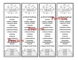 Reading Challenge Bookmarks - Editable