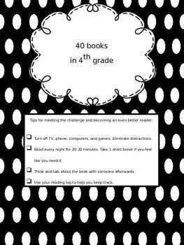 40 Books in 4th Grade Recording Sheets