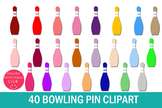 40 Bowling Pin Clipart- Single Bowling Pin Clipart