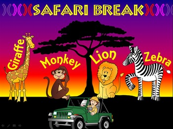40 Brain Breaks - Safari Theme - Animals - Jungle - PPT - PowerPoint