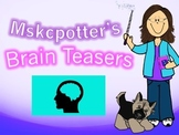 40 Brain Teasers with Answer Key