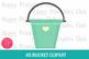 40 Bucket Clipart- Rainbow Bucket Clipart- Colorful Buckets