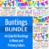 40 Buntings Clip Art ~ Money Saving Bundle