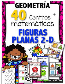40 Centros de aprendizaje de  geometría (FIGURAS PLANAS) p