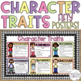 50 Character Trait Posters Counseling Character Education SEL Printable Digital