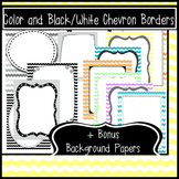 40 Chevron Borders and Frames + 10 Bonus Background Papers