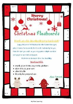 40 Christmas Flashcards