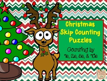 40 Christmas Number Order & Skip Counting Puzzles
