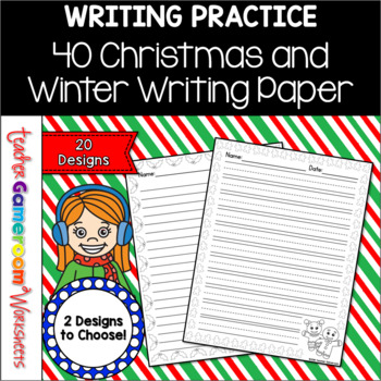 40 Christmas Themed Writing Paper